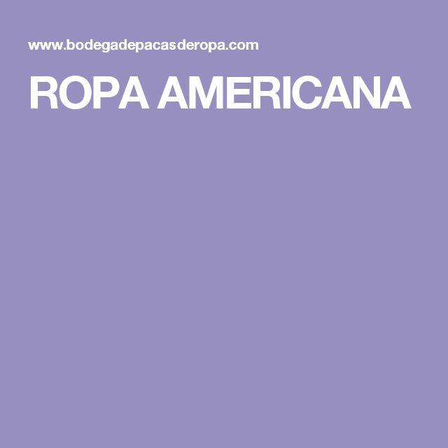 ROPA AMERICANA