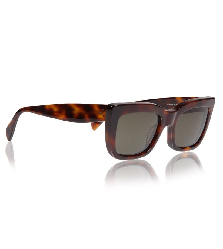Celine Tortoiseshell Brown Deep Square Sunglasses Os ...