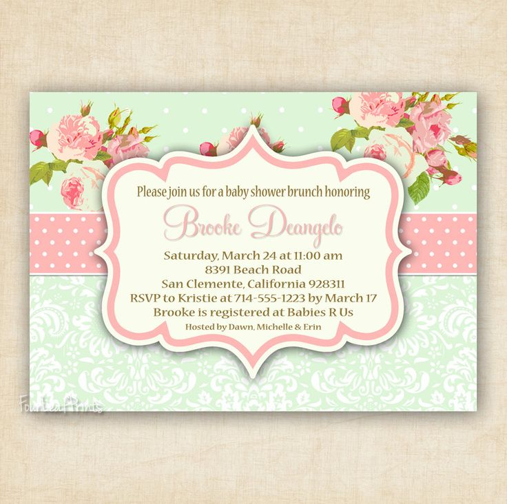 the 29 best images about shabby chic baby shower on pinterest, Baby shower invitations