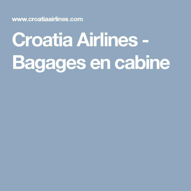 Croatia Airlines - Bagages en cabine