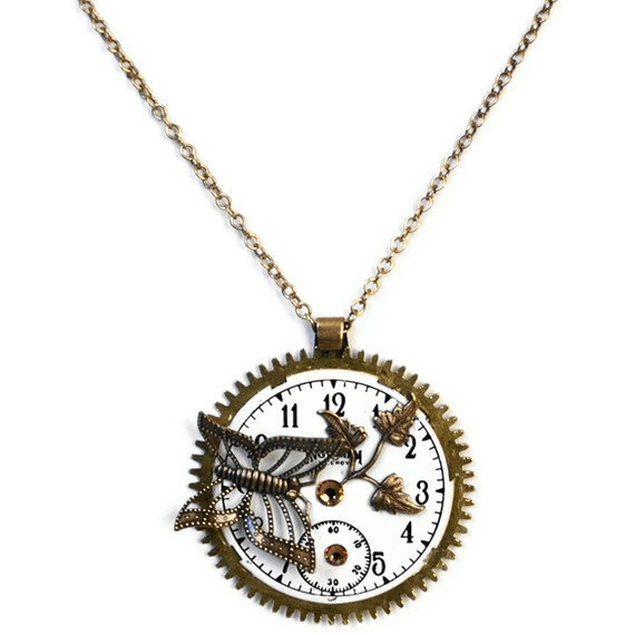 72 best steampunk watch faces only images on pinterest jewelry butterfly watch parts necklace steampunk altered art aloadofball Choice Image