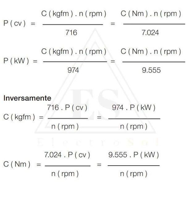 Potencia aire acondicionado industrial
