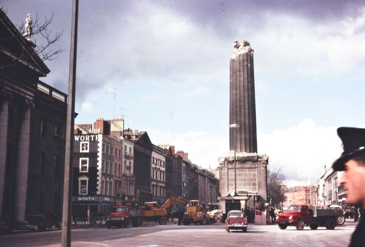 The stump of Nelson's Pillar after the IRA blew it up on Tuesday, 8 March 1966, fifty years after the Easter Rising began at its base. Remarkably - and luckily - the explosion caused very little collateral damage.