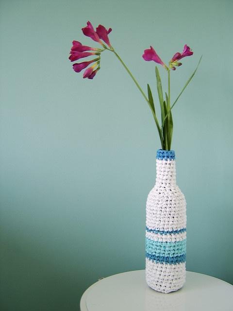 crochet bottle cover