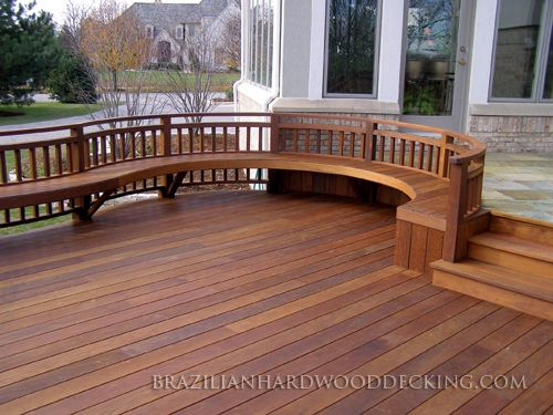 Exotic Hardwood Decking Such As Ipe Brazilian Walnut And