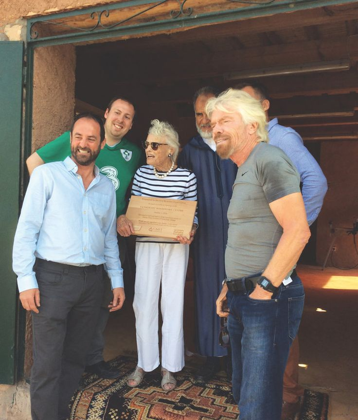"Official opening ceremony of TWC  in October 2016.  L-R:  Dermot  O'Donovan, David Monson, Eve Branson,  Sir Richard Branson. | ""GMIT Letterfrack Soars to New Heights in Morocco: Staff and Students Collaborate with the Eve Branson Foundation in Morocco For Knowledge Transfer and Skills Development 