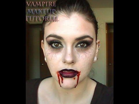 =Vampire Makeup Tutorial= Vampire Diaries Inspired Halloween 2013 - YouTube