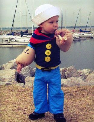 Die besten DIY Kinderkostüme für Karneval und Fasching QUELLE: http://www.costume-works.com/lil_popeye_the_sailor_man.html