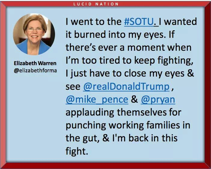 Someone who is fighting for the middle class! Thank you Senator Warren!