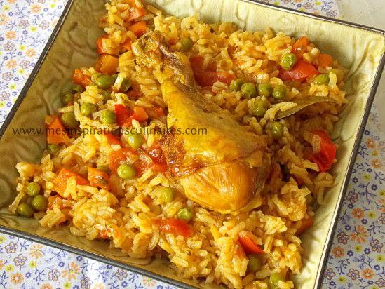 Un plat algérien très facile à préparer, que ma mère faisait souvent. Du riz au poulet parfumé aux épices que même les enfants apprécient, même si parfois les légumes passent difficilement.