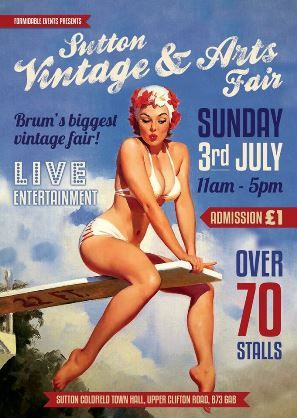 Vintassion Uncovered - Newsletter #137, 01/07/16 - Hi Vintage Lovers, July is here and you can take your first 'Summer plunge' this Sunday at the Sutton Vintage & Arts Fair, which is the biggest and most fun in all of Brum!   70 stalls of amazing Vintage Fashion, Arts, Crafts & Homeware Traders from across the UK take over 4 rooms within the beautiful Victorian grandure of Sutton Coldfield Town Hall, just 7 miles North of Birmingham city centre.   With terrific live entertainment from...
