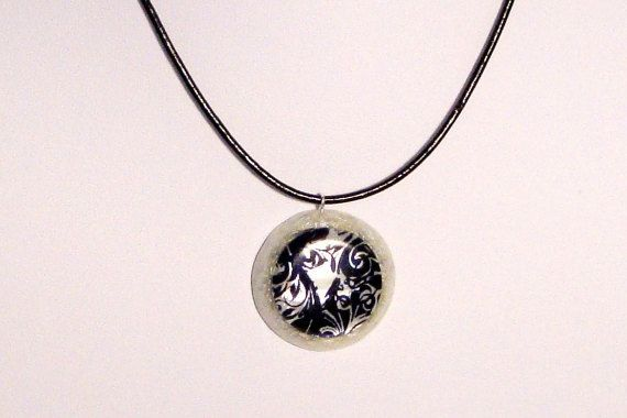 Orgone  orgonite pendant with black and white by OrgoniteCreations