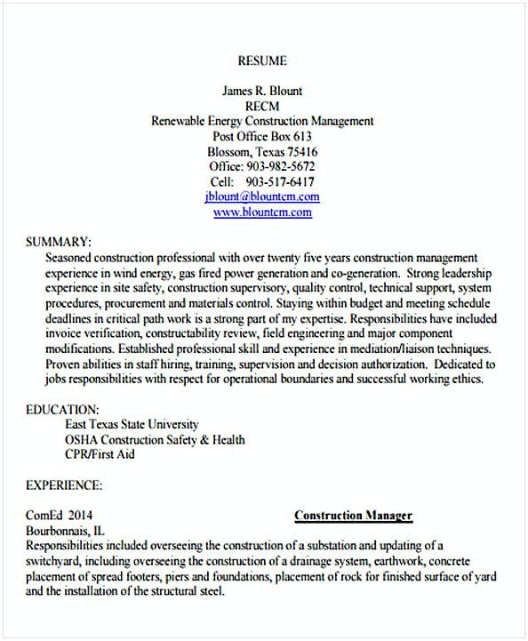 Construction Resume Template Example Change Management Resume What To Know About Your Change Management R Change Management Resume Template Examples Resume