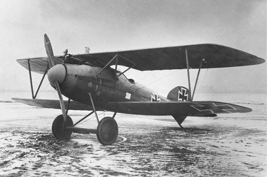 "british-eevee: ""Albatros D.V at rest at an airfield (1917/18) """
