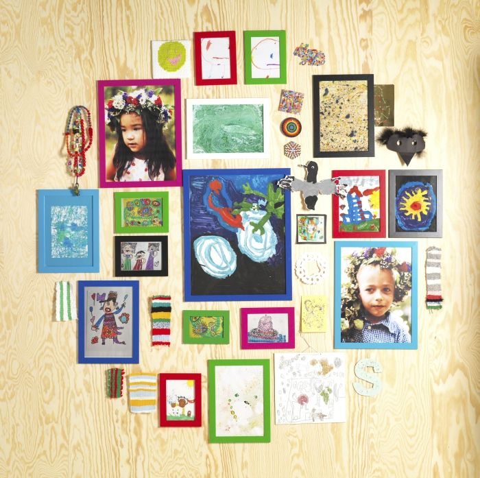 NYTTJA frames are colorful, lightweight, and have durable plastic fronts - a great choice for children's rooms.