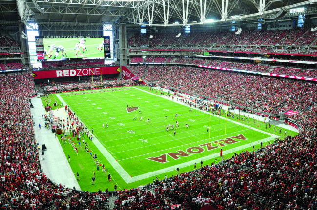 As a member of the U.S. Green Building Council, the University of Phoenix Stadium has undertaken numerous sustainability initiatives in its first decade, from recycling to using energy saving lights and conserving electricity. With the 2017 NCAA Men's Final Four coming up, learn more about their Green Mission here: https://greenlivingaz.com/field-greener-university-phoenix-stadium/?utm_campaign=.&utm_medium=.&utm_source=pinterest