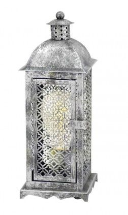 EGLO WINSHAM Vintage Retro Tischleuchte E27 Silber Antik