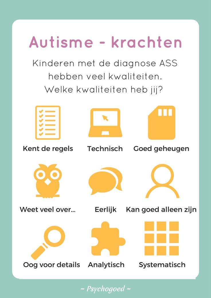 Kinderen met de diagnose autisme hebben zoveel unieke kwaliteiten!  #ASS, #autisme, #autisme spectrum stoornis, #kwaliteiten, #krachten, #kinderen