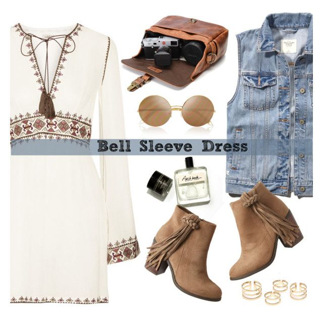 """""""New Trend: Bell-Sleeve Dresses"""" by deeyanago ❤ liked on Polyvore featuring Talitha, Abercrombie & Fitch, maurices, Victoria Beckham, women's clothing, women's fashion, women, female, woman and misses"""