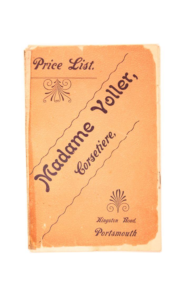 Historical Madame Voller Price List