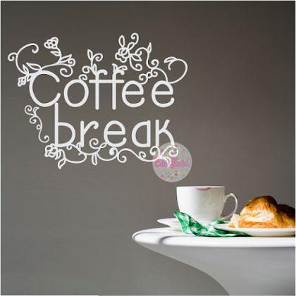 VINILO DECORATIVO COCINA COFFEE BREAK