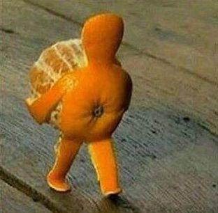 Petit bonhomme en peau d'orange.