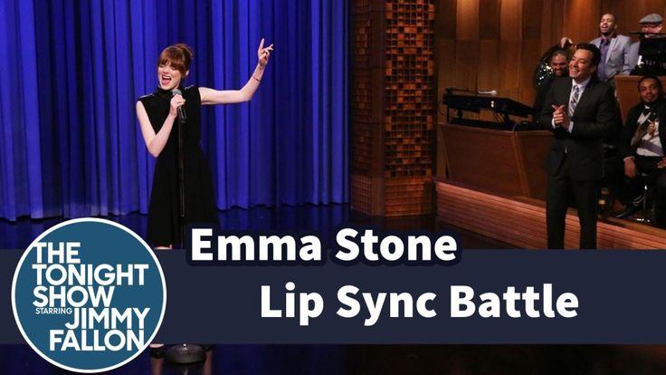 Jimmy Fallon Lip Sync Battle with Emma Stone on the Tonight Show