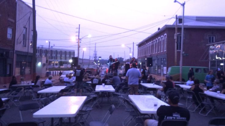 Whitey Morgan & the 78s at The Firehouse BBQ & Blues in Richmond, Ind. July 26, 2014 - hella lightning storm!