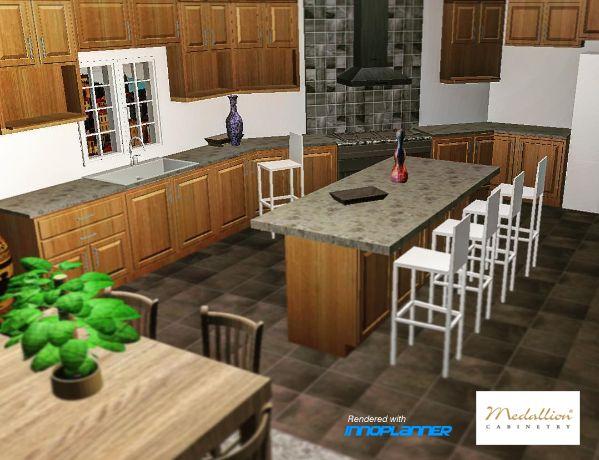 Medallion kitchen designed with InnoPlanner