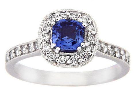 #Ceylon #sapphire and #diamond ring | #thomasjewellers