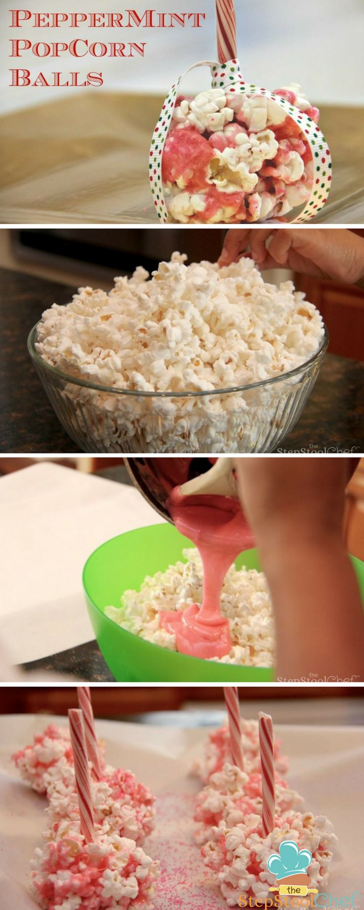 Peppermint Popcorn Balls | The Step Stool Chef
