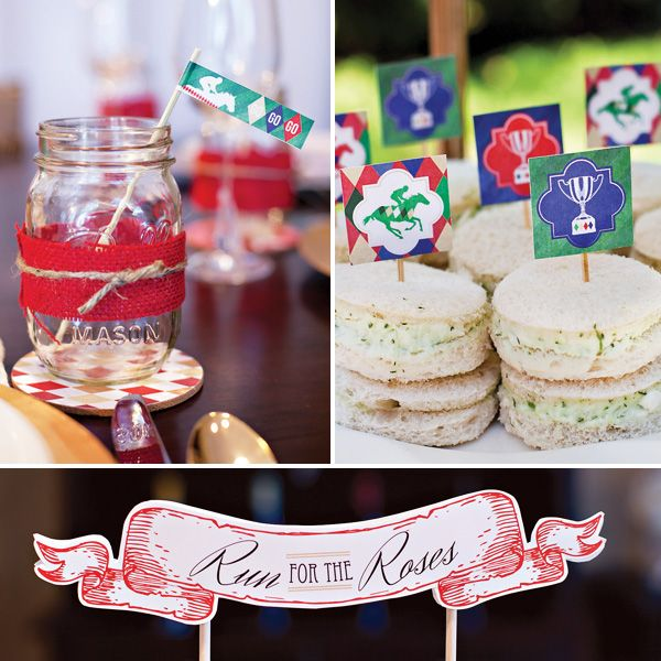 Kentucky Derby party printables make me want to have a Kentucky Derby party. Mint julep, anyone?