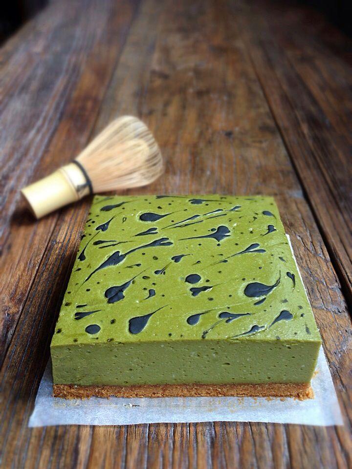 Green tea cheese cake/抹茶チーズケーキ