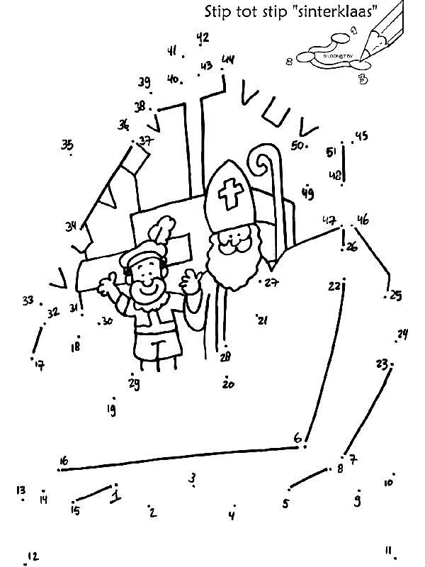 Stip tot stip Sinterklaas boot - Knutselpagina.nl - knutselen, knutselen en nog eens knutselen.