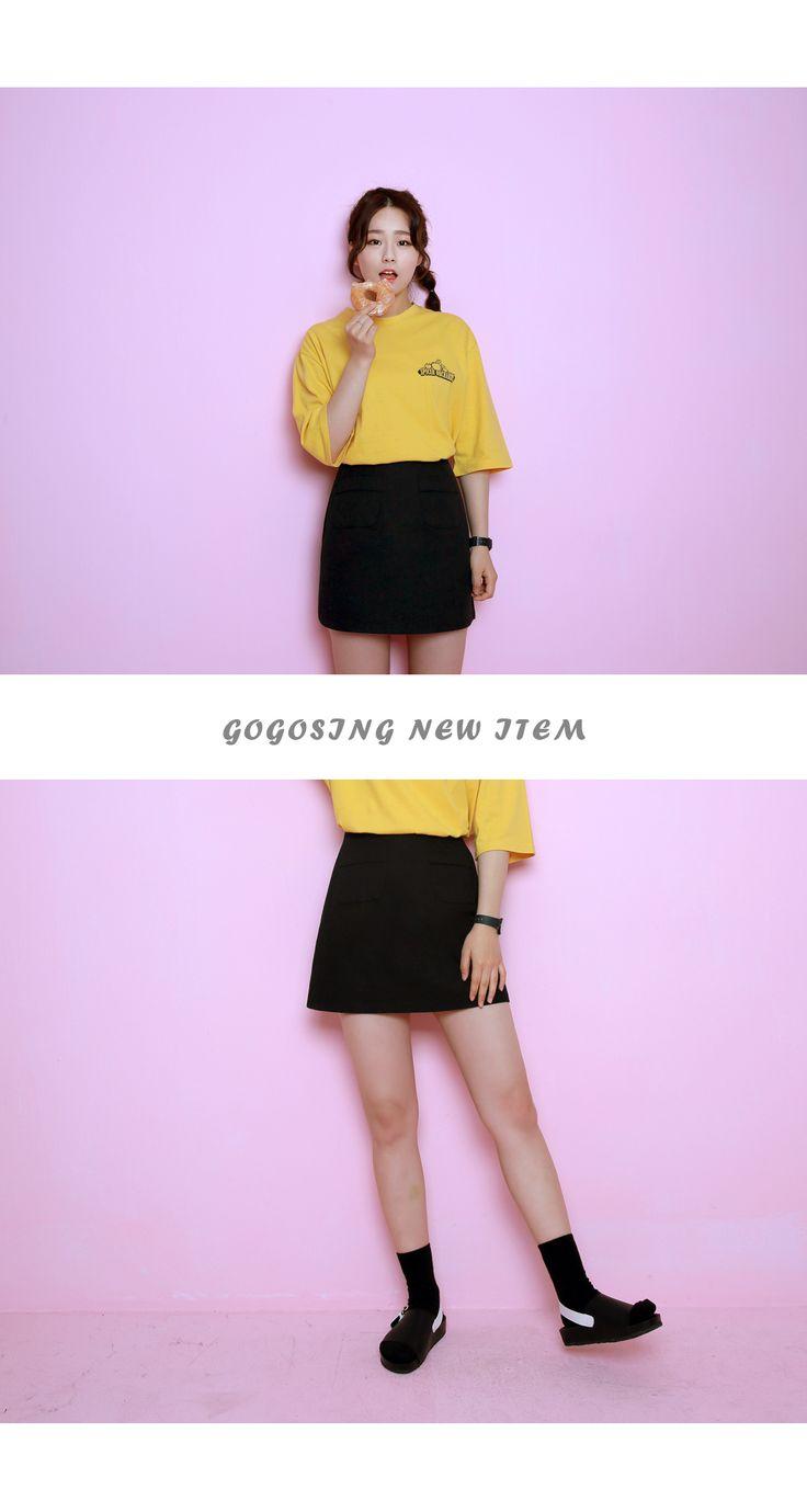 スリムAラインスカート - 激安カジュアルファッション通販《GOGOSING》♥安カワな人気レディースファッションが続々入荷中!!