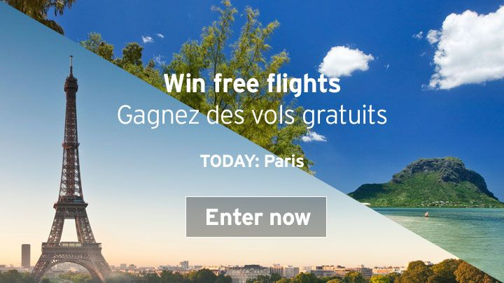 You should enter Air Mauritius 14 Day ticket giveaway. Air Mauritius are giving away Mauritius flights to/from Paris today and I think one of us could win!