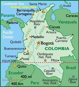 Colombia map - Bing Images