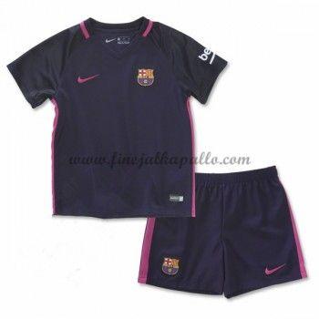 Barcelona Lasten Jalkapallo Pelipaidat 2016-17 Vieraspaita
