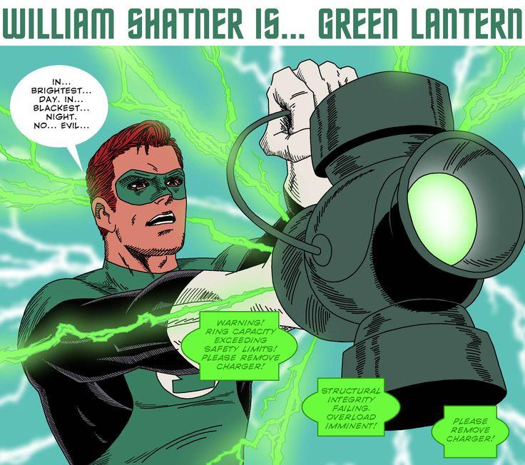 Shatner/ Green Lantern.  The Line it is Drawn #84 – Comic Book Dream Casting