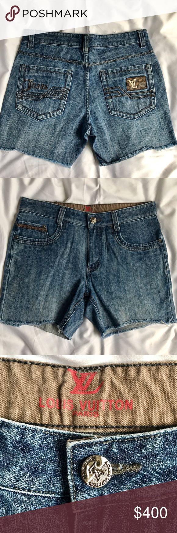 Authentic Louis Vuitton Jeans Shorts Sz 38 Adorable jeans shorts by Louis Vuitton. Made in France. Excellent condition. Size 36 Louis Vuitton Shorts Jean Shorts