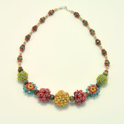 embellished beaded bead necklace