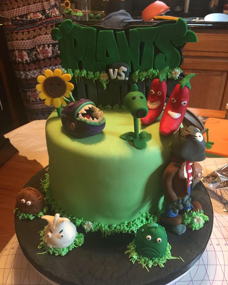 Plants Vs Zombies Cake Pinterest