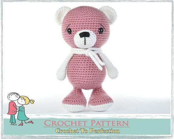 Amigurumi PATTERN Bear Teddy Bear Crochet by TatieSoftToys on Etsy