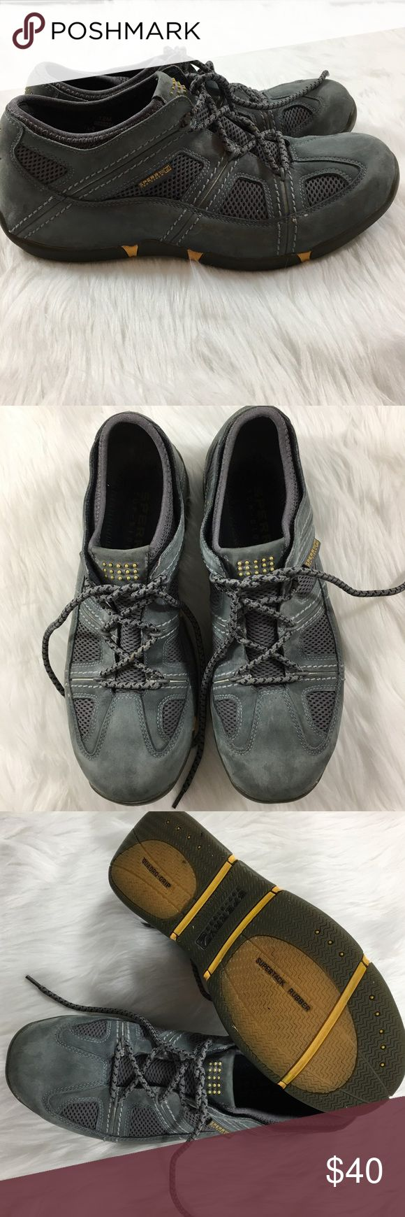 Men's Leather Sperry Shoes Only worn once, these Sperry shoes are in near perfect condition! Very comfortable and great for busy days. Sperry Top-Sider Shoes Sneakers