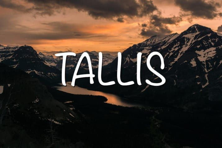 Meaning: The last name of famed English composer Thomas Tallis.