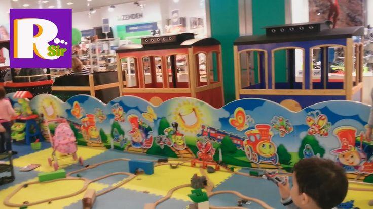 Игровая площадка, железная дорога, гигантский поезд, Playground for kids...