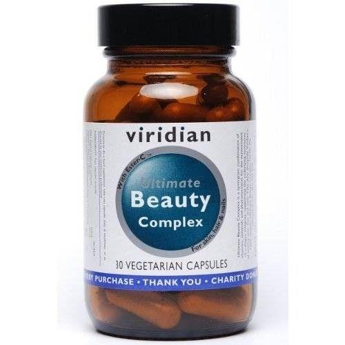 Viridian Ultimate Beauty Complex. Een rijke combinatie van vitaminen, mineralen en fytonutrienten voor het behoud van het collageen. Deze formule support gezonde huid, haar en nagels. Goed te gebruiken naast Viridian's 100% Biologische Ultimate Beauty Complex Oil, 100% actieve ingredienten. €28,70.  http://www.viridianshop.nl/viridian-ultimate-beauty-complex-