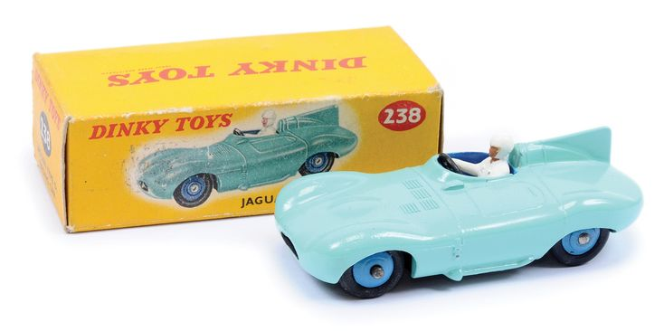 Dinky No.238 Jaguar Type D Racing Car turquoise