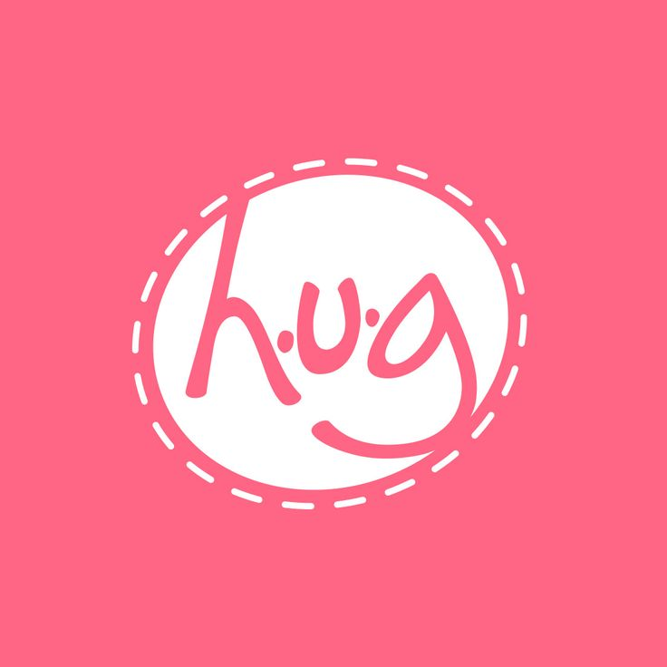 graphic design of logo and website for hug creations www.hugcreations.com  #logo #webdesign #branding #business