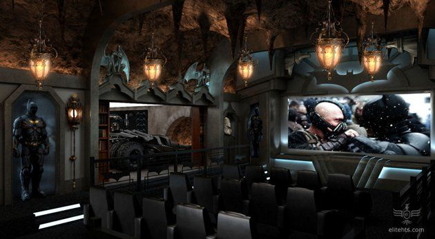 Dark Knight' Theater    Many powerhouse filmmakers and A-list actors are building home theaters that can cost up to $ 2 million a pop. And this batcave theater, built for an unspecified Greenwich, Connecticut, resident cost just that much to construct.